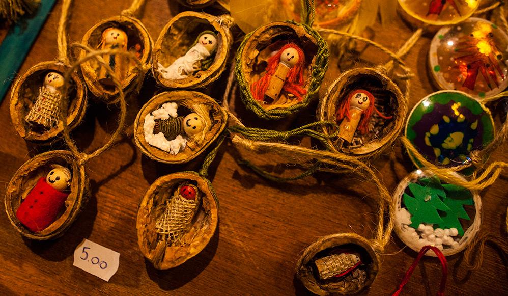 Ornamente handmade la Târgul de Crăciun